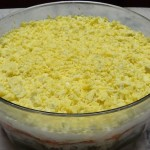 Mimosa – delicious layered salad from Ukraine
