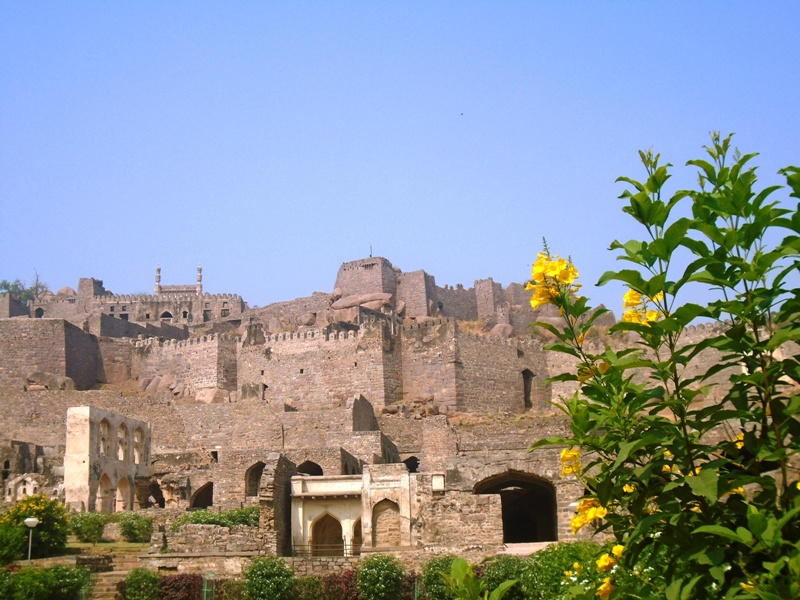 Golconda Fort as seen from the main entrance